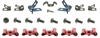 1967 - 1968 Brake Line Clips and Bolts Set, OE Style, Correct, 19 Pieces