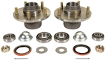 1967 - 1969 Camaro Front Brake Drum Hubs with Races, Bearings, Studs, and Seals