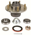1967 - 1969 Camaro Front Brake Drum Hub with Races, Bearings, Studs, Dust Cap, and Seal