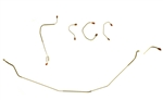 1967 - 1968 Camaro Front Brake Lines Set, For OE Style 4 Piston Power Discs