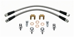 "Wilwood 7/16-20"" Banjo Brake Flex Hoses Kit Flexline, Stainless Steel Braided"