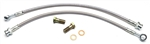 1967 - 2002 Camaro Front Disc Brake Braided Stainless Steel Flex Hoses Kit, 7/16 Inch