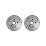 1970 - 1978 Camaro Drilled and Slotted Front Disc Brake Rotors, Pair