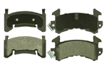 1982 - 1992 Camaro Front Disc Brake Pads Set, Single Piston w/out Performance Package, OE Semi-Metallic