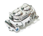 1967 - 1981 Chrome Master Cylinder for Power Brakes, Dual Bowl with OE Style Look
