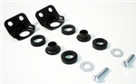 1969 Camaro Outer Endura Bumper Brackets Kit with Bushings and Hardware, 12 Pieces