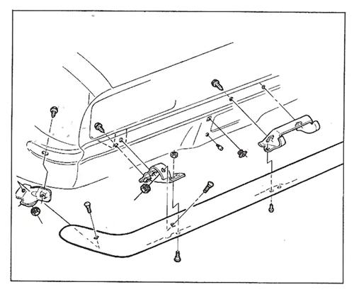 1967 1968 1969 67 68 69 Camaro Front Bumper Bracket Bolt Kit New
