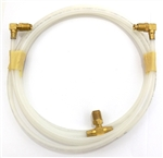 1967 - 1969 Convertible Power Top Hose with Brass Fittings, Correct White, Each