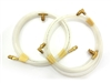 1967 - 1969 Camaro Convertible Power Top Hoses with Brass Fittings, Correct White, Pair