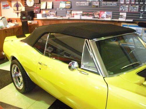 1967 1969 camaro premium cloth convertible top folding glass window rh camarocentral com 69 Z28 Camaro 69 Chevy Camaro