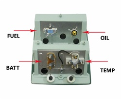 1968 - 1969 camaro console temperature gauge, 6489836  camaro central