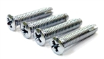 1967 Camaro Console Shift Plate Screws Set, Automatic or Manual Transmission, Chrome Plated with Small Head Size and Self-Tapping, Correct, 4 Pieces