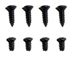 1967 - 1968 Shift Boot Retainer Ring Screws Set, 4-Speed, Non-Console