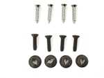 1968 Camaro Console Shift Plate Screws Set, 4-Speed, Chrome Plated, 12 Pieces | Camaro Central
