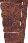 1970-1972 Manual Console Shifter Plate Woodgrain Decal Insert, 4-Speed