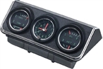 1967 Camaro Console Gauge Housing Assembly with Gauges: Bezel,Gauge Housing, 4 Gauges and Clock, 3952637