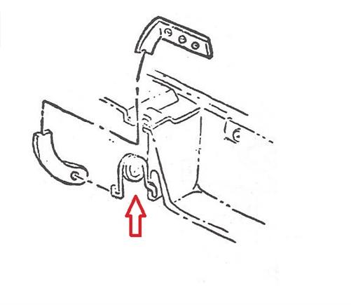 1967 camaro console door lid spring  3899868