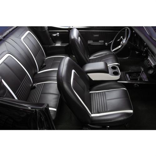 CUSTOM Black Deluxe Console for 1967 1968 1969 Camaro by TMI
