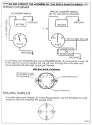 [DIAGRAM_4PO]  1968 - 1969 Camaro Console Gauge, VOLTMETER, For Use in Replacement of Amp  meter 6473265 | Gm Amp Gauge Wiring |  | Camaro Central