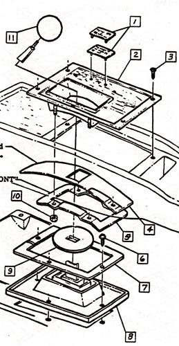 1968 Camaro Console Shifter Plate Boot Slider Upper Rubber