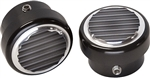1967 - 1981 Camaro Custom Billet Aluminum Ribbed Headlight Dimmer Switch Cover, Black Anodized