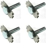 1967 - 1981 Radio Rear Speaker Mounting Hardware Bolts Set with Spring Clips, 4 Pieces