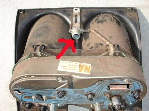 1968 Camaro Dash Center Bright Light High Beam Indicator, Ground Strap  Assembly, GM Used