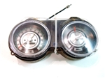 1968 Dash Instrument Cluster Housing Assembly with Gauges and Speed Warning, GM Original Used
