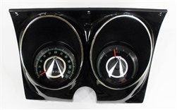1967 Camaro Dash Instrument Cluster Housing Assembly with Gauges (Customizeable, You Design), Complete Preassembled, OE Style
