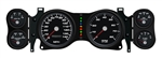 1970 - 1978 Dash Instrument Cluster Gauges Set, Black (NVU): Speedometer, Tachometer, Oil Pressure, Water Temp, Voltmeter and Fuel