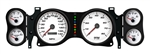 1970 - 1978 Dash Instrument Cluster Gauges Set, White Face (NVU): Speedometer, Tachometer, Oil Pressure, Water Temp, Voltmeter and Fuel