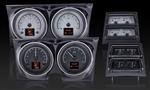 1968 Dash Instrument Cluster and Console Gauges Set, HDX : Speedometer, Tachometer, Oil Pressure, Water Temp, Voltmeter and Fuel