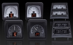 1969 Dash Instrument Cluster Gauge Kit, HDX : Speedometer, Tachometer, Oil Pressure, Water Temp, Voltmeter and Fuel