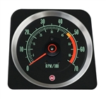 1969 Camaro Dash Tach, TACHOMETER 5000 - 7000 Redline, 6469381 ALL IGNITION SYSTEMS EXC. MSD