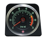 1969 Camaro Dash Tach, TACHOMETER 5500 - 7000 Redline, 6469382 ALL IGNITION SYSTEMS EXC. MSD