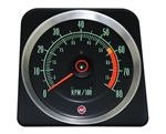 1969 Camaro Dash Tach, TACHOMETER 6000 - 8000 Redline, 6469383 ALL IGNITION SYSTEMS EXC. MSD