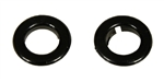 1968 Dash Air Vent Pull Knob Ferrules, Black, Pair