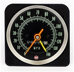 1969 Dash Instrument Cluster Gauge, SPEEDOMETER, with Speed Warning, 140 MPH