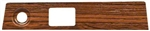 1969 Dash Plate, Rosewood / Cherrywood Woodgrain: Wiper and Headlights
