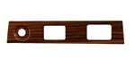 1969 Dash Plate, Rosewood / Cherrywood Woodgrain: Wiper, Headlights, Power Top or Rear Defrost