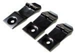 1970 - 1978 Camaro Dash Pad Clips Set for Original GM Dash Pads, Padded, 2 Short and 1 Long