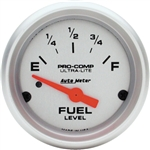 Auto Meter Ultra-Lite Fuel Gauge, Electric Short Sweep 2-1/16 Inch