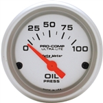 Auto Meter Ultra-Lite Oil Gauge, Electric Short Sweep 2-1/16 Inch