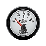 Dash Instrument Cluster Gauge Auto Meter Phantom II, FUEL LEVEL, Custom, Electric Short Sweep, 0Ωs Empty / 90Ωs Full, 2-1/16 Inch (52.4mm), Additional Mounting Locations