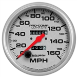 Auto Meter Ultra-Lite SPEEDOMETER, Mechanical 160 MPH, 5""