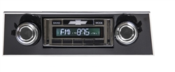 1967 - 1968 USA-630 Camaro Radio with AM/FM Stereo, USB, CD Control, Auxiliary Input, with Black Bezel