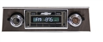 1967 - 1968 USA-630 Camaro Radio with AM/FM Stereo, USB, CD Control, Auxiliary Input, with Walnut Woodgrain Bezel