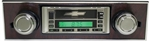 1967 - 1968 Camaro Cassette Radio with AM/FM Stereo, Auxiliary Input, with Walnut Bezel