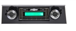 1967 - 1968 USA-230 Camaro Radio with AM/FM Stereo, Auxiliary Input, with Black Bezel