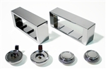 1970 - 1981 Dash Radio Bezel and Knobs Kit, Chrome